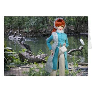 Cartão Pássaros do jardim zoológico de Verdi - de Houston