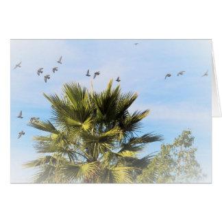Cartão Pássaros em vôo