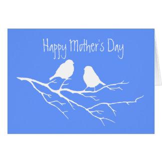 Cartão Pássaros especiais do amigo dois do dia das mães