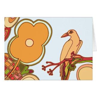Cartão Pássaros lunáticos (alguma cor que você escolher!)