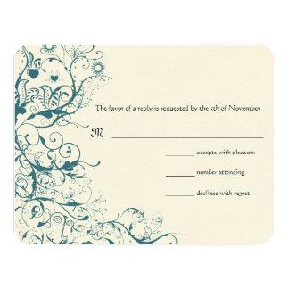 Cartão Pássaros & redemoinhos da cerceta que Wedding o