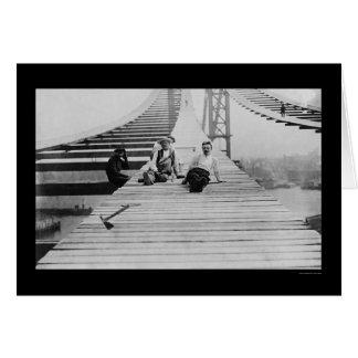 Cartão Passeio 1910 da ponte de Manhattan