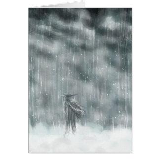 Cartão Passeio através da tempestade