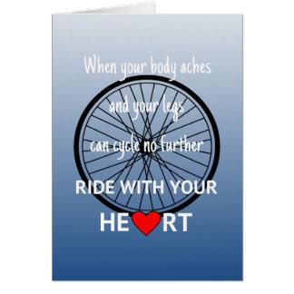 Cartão Passeio com seu coração inspirador