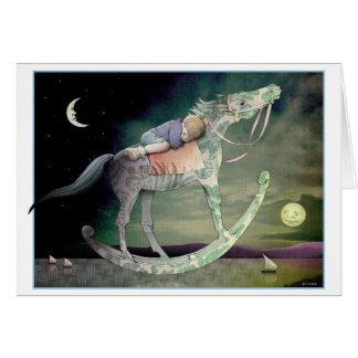 Cartão Passeio da noite - menino