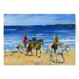 Cartão Passeio da praia