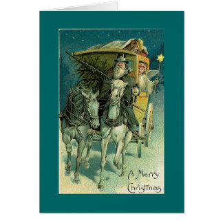 Cartão Passeio do treinador do Natal com anjo