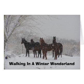 Cartão Passeio em um país das maravilhas do inverno