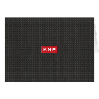 Cartão Passo preto Monogrammed simples NoteCard