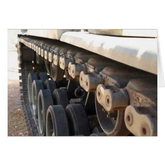 Cartão passos do tanque
