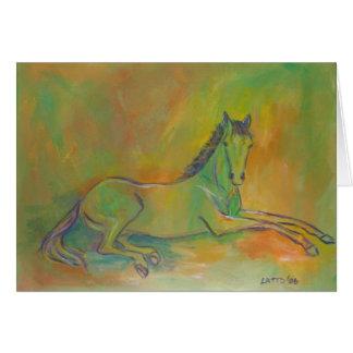 Cartão Pastel do cumprimento ou de nota do cavalo