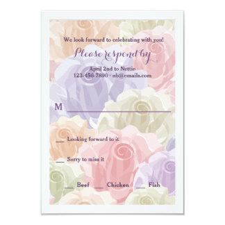 Cartão Pastel dos rosas RSVP Convite 8.89 X 12.7cm