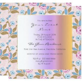 Cartão Pastel floral barroco de Versaille Marie
