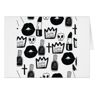 Cartão pastel goth, queen, horror, terror, gothic, femini