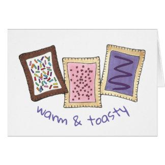 Cartão Pastelarias mornas e quentinhos da pastelaria do
