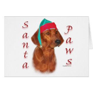 Cartão Patas do papai noel do Coonhound de Redbone