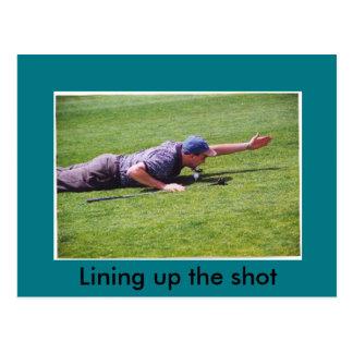 Cartão pateta do golfe