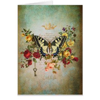 Cartão Patina e borboleta
