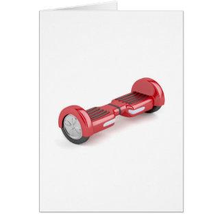 Cartão Patinete deequilíbrio vermelho