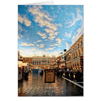 Cartão Pátio Venetian Las Vegas