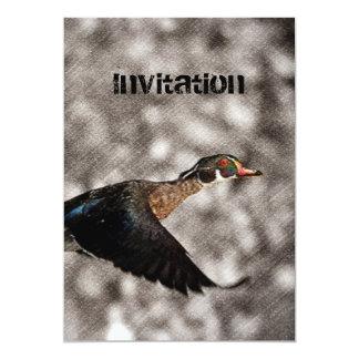 Cartão Pato de madeira das aves aquáticas primitivas do