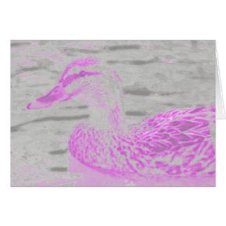 Cartão Pato de néon do fulgor