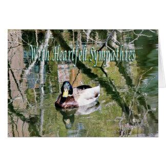 Cartão Pato selvagem na lagoa 2 - personalize toda a