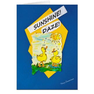 Cartão Patos do Daze da luz do sol