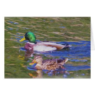 Cartão Patos do pato selvagem