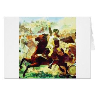 Cartão Patriota de galope