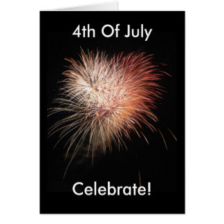 Cartão patriótico americano dos fogos-de-artifício