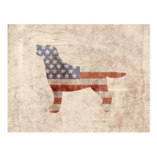 Cartão patriótico da bandeira americana do esboço cartão postal