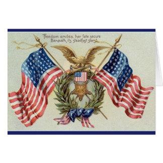 Cartão patriótico da bandeira da bandeira dos