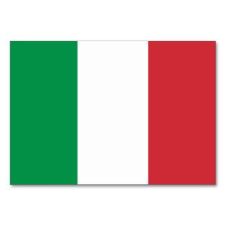 Cartão patriótico da mesa com a bandeira de Italia