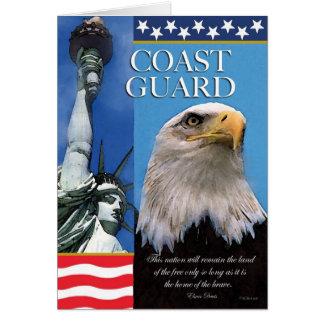 Cartão patriótico do apoio da tropa da guarda