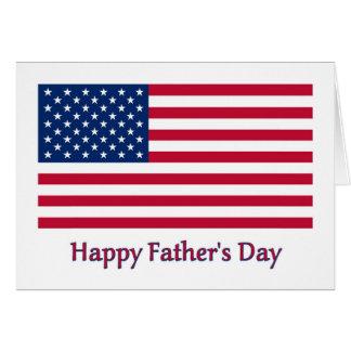 Cartão patriótico do dia dos pais