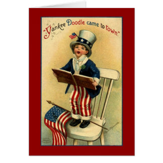 Cartão patriótico do Doodle do ianque do vintage