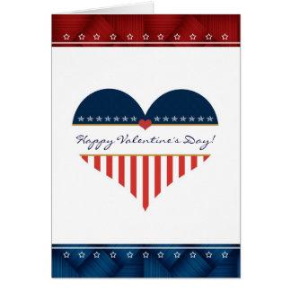 Cartão patriótico do feliz dia dos namorados do