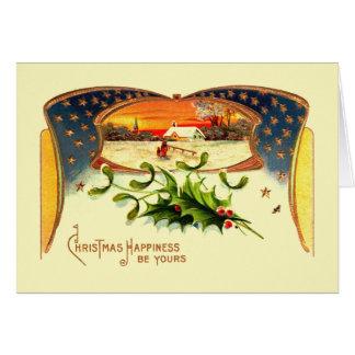Cartão patriótico do Natal de WWI