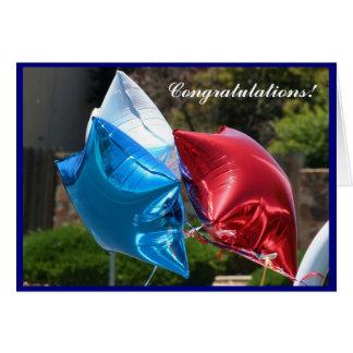 Cartão patriótico dos balões dos parabéns