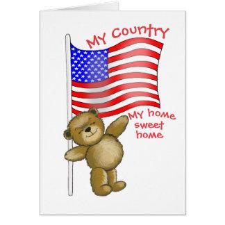 Cartão Patriótico, meu país, minha casa doce home