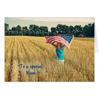 Cartão Patriótico para a sobrinha