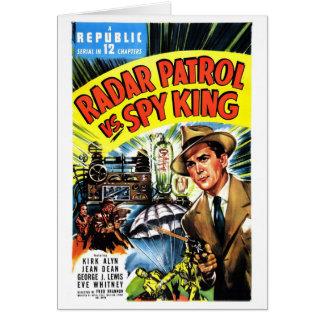 Cartão Patrulha do radar contra o rei do espião