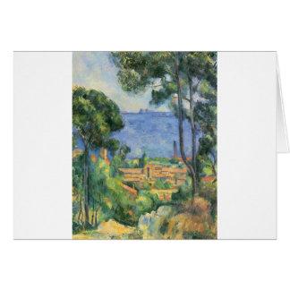 Cartão Paul Cezanne - ideia do d'If de L'Estaque e de
