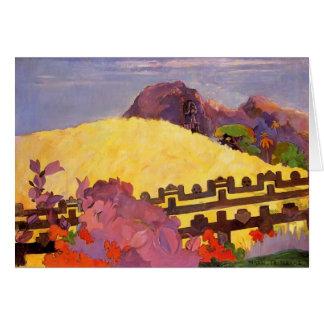 Cartão Paul Gauguin- a montanha sagrado