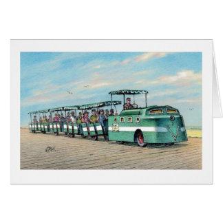 """Cartão Paul McGehee """"cartão do trem do passeio à beira"""