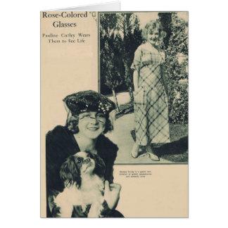 Cartão Pauline Curley 1919