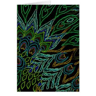 Cartão Pavão de néon