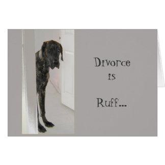 Cartão Pavão-do-mar do divórcio do cão de estimação de