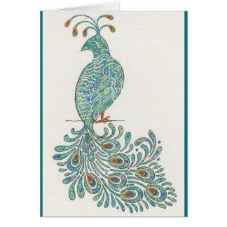 Cartão Pavão Notecard
